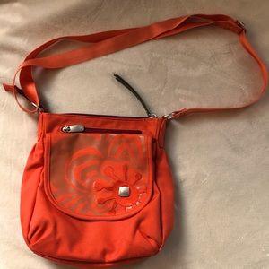 Haiku 100% recycled orange canvas purse